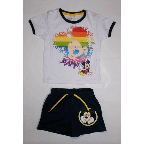 Complet D'été courte t-shirt + short Mickey Disney 3/8 ans – oe1313/2 anni 06 bianco