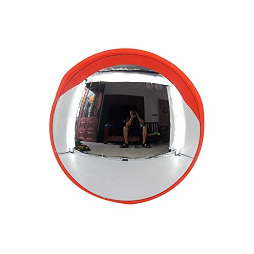 Hfyg Traffic Spiegel Verkeer Spiegel, Ronde Veiligheid Convex Spiegel Wandsteun voor Verkeersveiligheid en Shop Beveiliging Inclusief Bevestiging Cap& Beugel & Schroef Convex Spiegel 120cm A