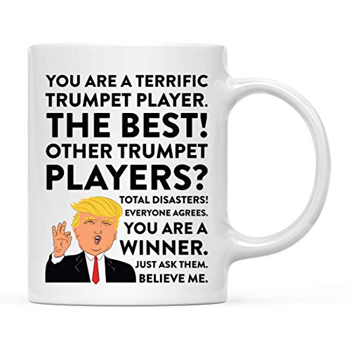 N\A Keramik Kaffee Teebecher Lustiger Präsident Donald Trump, toller Trompeter, 1-Pack, White Elephant Secret Santa Geburtstag Geschenkideen