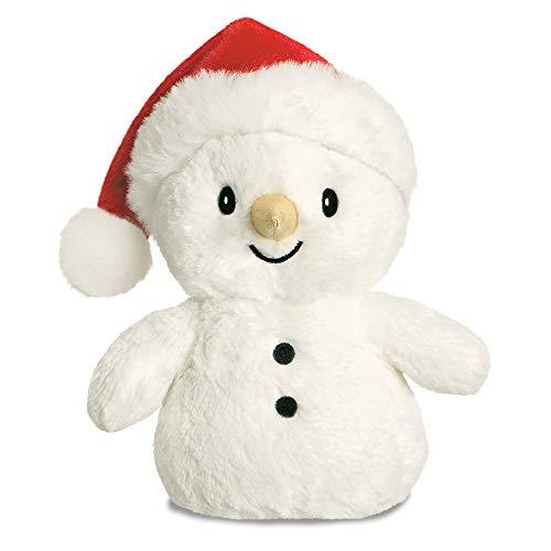 Aurora, 74098, Glitzy Tots Pupazzo di neve, 20 cm, peluche bianco