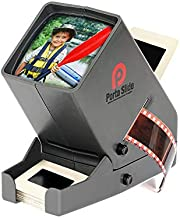 Porta Slide PS-3 Slide Viewer, View 2x2 in. Slides, 35mm Film Strips & Negatives, LED Viewing light, 4 in. Screen, 3x Magnification w/Cleaning Cloth, USB Power Cable included