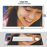 大島優子 マウスパッド 光学マウス対応 パソコン 周辺機器 超大型 防水 洗える 滑り止め 高級感 耐久性が良い 40*75cm