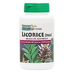 professional NaturesPlus Herbal Actives Licorice Capsules (DGL) – 500 mg, 60 Vegan Supplements – Maximum…