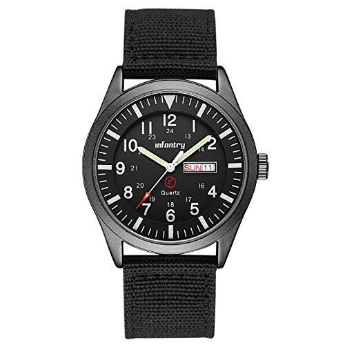 Infantry Mens Military Watch Quartz Analogue Black Waterproof Wrist Watches...