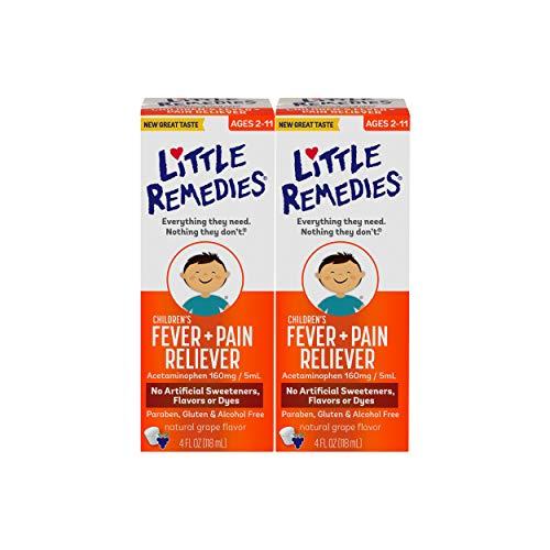Little Remedies Children's Fever & Pain Reliever   Grape   4 FL OZ   2 Pack