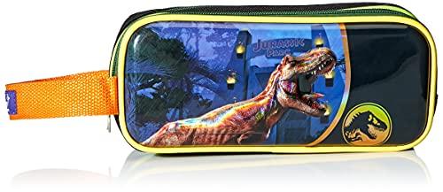 Ruz Ruz Lapicera doble Jurassic world evergr Estuche suave de doble compartimiento con acabao 3D Metálico doble Jurassic world evergr