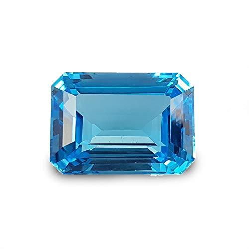 Neerupam Collezione Topazio Blu Svizzero Naturale qualità AAA 8x6 mm Ottagono Sciolto Gemma, Topazio Blu Svizzero Naturale Sciolto Pietra preziosa per la creazione di Gioielli