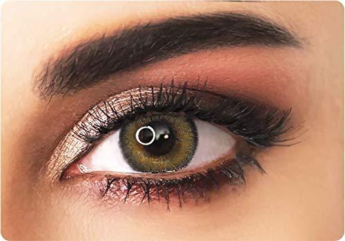 Natürliche farbige kontaktlinsen in braun - 3 Monaten- ohne Stärke + gratis Kontaktlinsenbehälte -ADORE - BI HAZEL