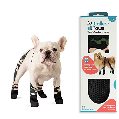 Walkee Paws Waterproof Dog Leggings - Keep Your Dog's' Clean & Dry Without The Hassle of Boots - Camouflage (Small)