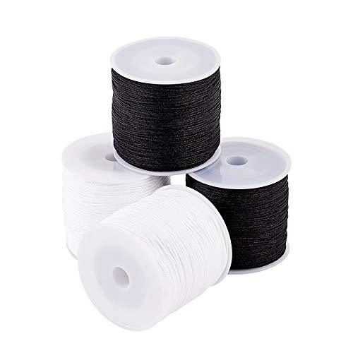 PandaHall Hilo de nailon de 0,8 mm, cordón de pulsera de 218 yardas, hilo trenzado de nailon para abalorios y pulseras de joyería