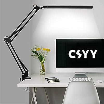 3 modos de color y 10 niveles de brillo: la lámpara de escritorio con clip ofrece 3 modos de iluminación, cada modo de iluminación dispone de 10 niveles de intensidad de brillo. Con un total de 30 métodos de iluminación, puedes elegir fácilmente el b...