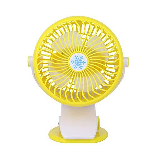 qingqingxiaowu Ventilador Bebe Ventilador De Pinza Clip en Batería Clip Pequeño Clip en el Ventilador Clip en el Ventilador Recargable Clip de bebé en el Ventilador Yellow