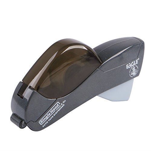 Eagle Automatic Tape Dispenser with ½-Inch and ¾-Inch Tape, Gray