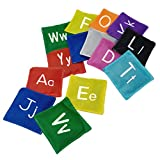 BESPORTBLE 26pcs Alphabet Bean Bag ABC Educational Bean Bags English Word Spelling Learning Toys Kids Beanbags Montessori Activity for Outdoor Fun Sports Game