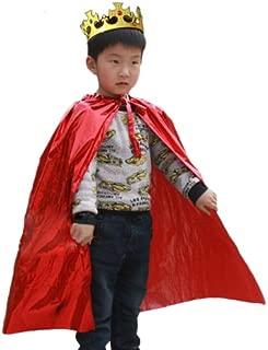 Cosjob 王様 ( 王冠 マント ) セット (A218) Halloween ハロウィン お遊戯会 劇 仮装 衣装  コスプレ コスチューム 変装 ハロウィン 赤 王 子 様 ローブ