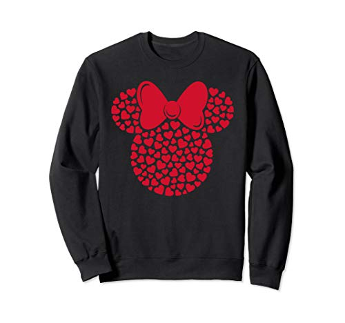 Disney Minnie Mouse Icon Filled with Hearts Sweatshirt