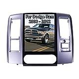 ZWNAV Android Tesla Style Radio for Dodge Ram 1500 2500 3500 2008-2012 Car Stereo Autoradio 2 din GPS Navigation Multimedia Player DSP Wireless Carplay Head Unit (2008-2012, 64GB Three Seats)