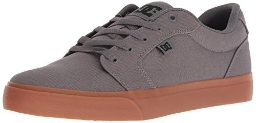 DC Men's Anvil Tx Skate Shoe, grey/black/grey2017, 10 Medium US