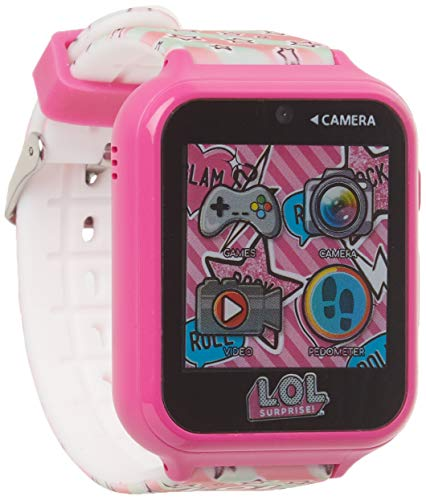 L.O.L. Surprise! Touch-Screen Smartwatch, Built in Selfie-Camera, Easy-to-Buckle Strap, Pink Smart Watch - Model: LOL4104