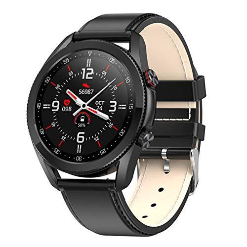 YYZ A Estrenar L19 Smart Watch Bluetooth Llamada ECG IP68 Impermeable Presión Arterial Ritmo Cardíaco Fitness Tracker Smartwatch,E