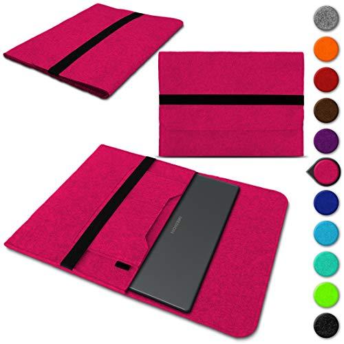 Sleeve Hülle für Medion Akoya Akoya S4401 Convertible Schutzhülle Filz Tasche Laptop Cover Notebook Case 14 Zoll, Farbe:Pink