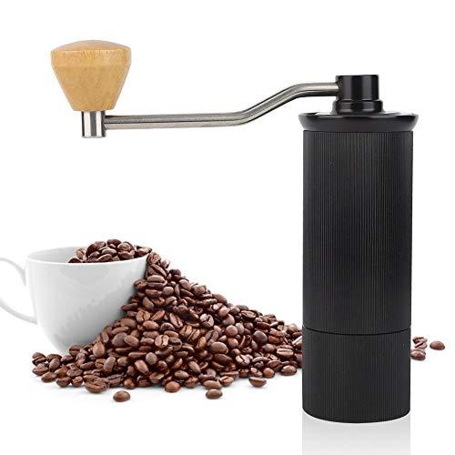 Koffiemolen, roestvrijstalen koffiemolen, handmatige koffiemolen, huishoudelijke minikoffiemolen, keukenaccessoires, met houten handvat, met hoge hardheid, duurzaamheid en slijtvastheid