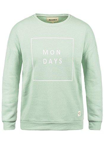 DESIRES Emma Damen Sweatshirt Pullover Sweater Mit Rundhalsausschnitt, Größe:M, Farbe:Seacr. M (3051M)