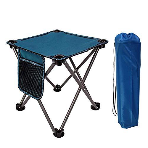 DX Table Pliante, Table de Camping, Ultra léger Mini Petite Taille Forte capacité portante Table de Pique-Nique de Camping en Plein air Portable Bleu Gris