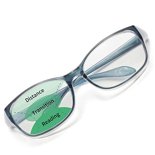 LianSan Anti-Fog Anti-Blue Progressive Reading Glasses Safety Goggles Blue Light Filter Computer Readers for Men Women Blue 1.50