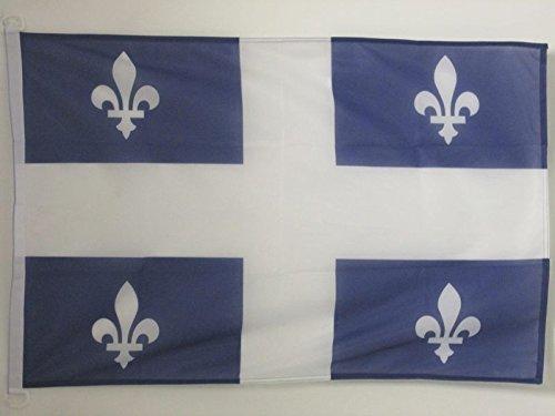 AZ FLAG Drapeau Québec 90x60cm - Drapeau québécois - Canada 60 x 90 cm Spécial Extérieur - Drapeaux