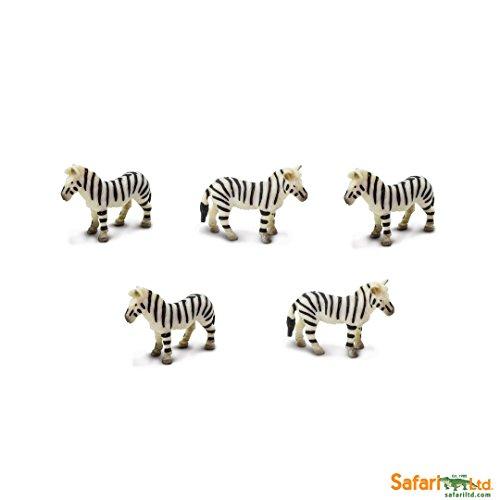 Safari Ltd. - Good Luck Minis - Glücksminis - Zebras 5 Stück