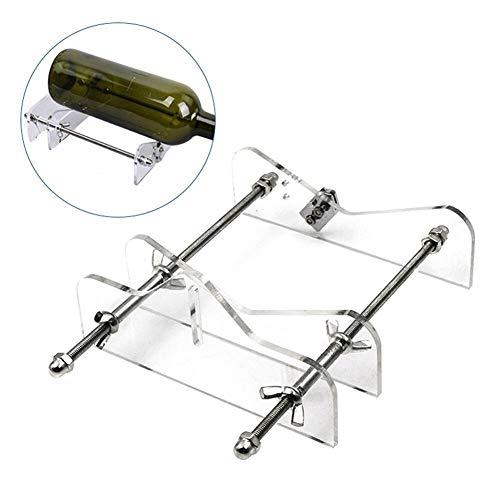 Glasflasche Schneiden Einstellbare Größen Metall Glasflasche Schnittmaschine for Crafting Weinflaschen Haushalt Dekorationen Werkzeug Rotary Multi-Werkzeug zum Schneiden und Polieren (Color : A)