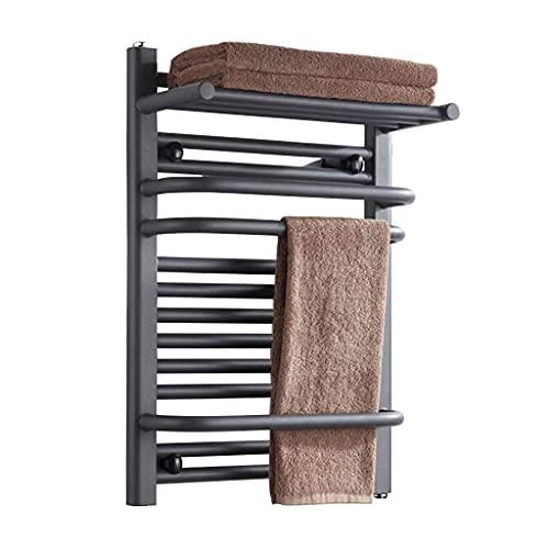Mobiliario para el hogar Calentador de toallas inteligente Toallero eléctrico Gris 400w...