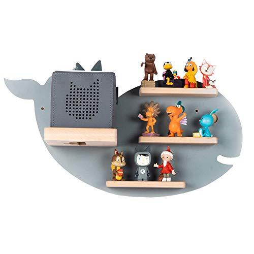 BOARTI Kinder Regal Wal small in Grau - geeignet für die Toniebox und ca. 20 Tonies - zum Spielen und Sammeln