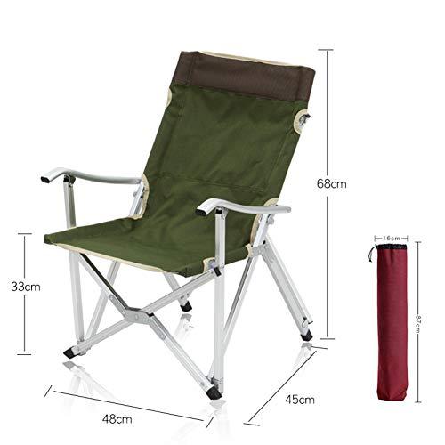 LYCIL Aluminium Tragbar Klappstuhl,Outdoor Klappstühle Mit Armlehnen Gartenstuhl Rasenstuhl Zum Camping Entspannen Freizeit Director Chairs A