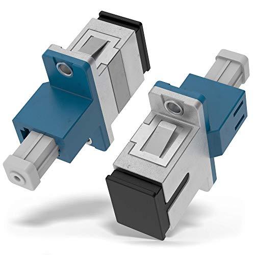 Beyondtech Glasfaserkoppler-Serie LC (weiblich) auf SC-Adapter, Singlemode, UPC Simplex, 1 Stück