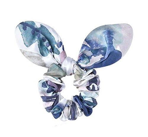 Elégant corde Oreilles de lapin de cheveux détenteurs de queue de cheval(Bleu)