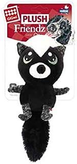 Gigwi Plush Friends Big Eyes Skunk Squeaker Dog Toy