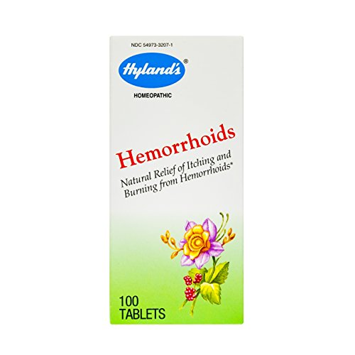 Hyland's Hemmoroid Treatment, Natural Hemorrhoid Relief of Hemroid Itching and Hemerroid Burning from Hemorrhoids, 100 Quick Dissolving Tablets