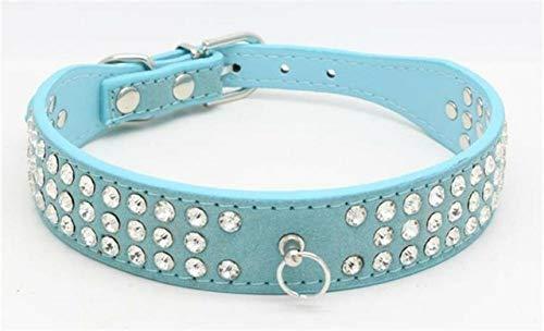 Ltong Strass Halsband Legering Diamant Puppy Kat Kraag Halsbanden Riemen Voor Kleine Honden Mascotas Accessoires, 2, XS