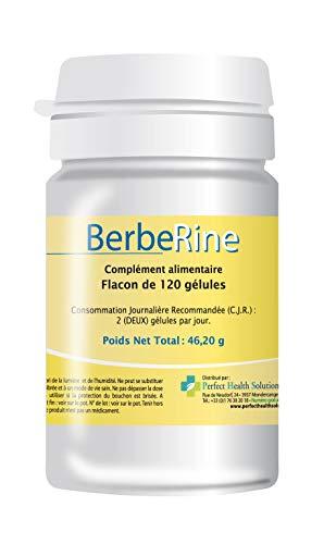 Berberine 120 gélules Perméabilité intestinal - Berbérine pure à 97 % - Complément alimentaire 100 % naturel
