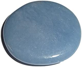 1pc Angelite Choice Piece Natural Rare Large Healing Crystal Smooth Polished Gemstone Worry Palm Pocket Stone
