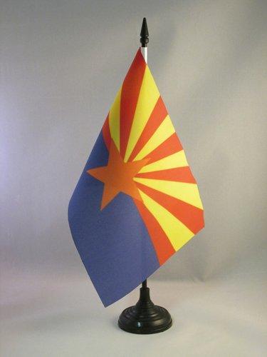AZ FLAG TISCHFLAGGE Arizona 21x14cm - Bundesstaat Arizona TISCHFAHNE 14 x 21 cm - flaggen