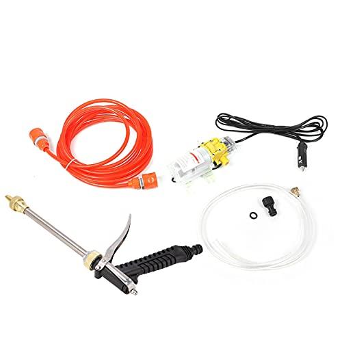 Bomba de lavado a presión, kit de bomba de agua de coche inteligente de potencia de alta presión portátil de 12 V para auto RV Home Garden Pet Shower