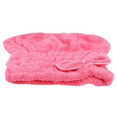 Minkissy 2 Pcs Cheveux Serviette Wrap Turban Cheveux Secs Chapeau avec Bowknot Épaissi Absorbant Corail Molleton Capuchon de Cheveux Bonnets de Douche