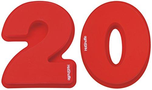 HotShuffle Grand Nombre de Silicone 20 Moule à gâteau Moule 20e Anniversaire de Mariage, Anniversaire 2 0