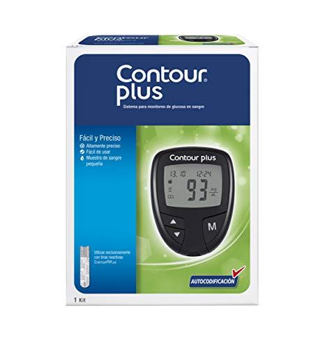 Contour Plus Glucómetro Autocodificado Para El Monitoreo De Glucosa En Sangre (contour Plus), color, 1 count, pack of/paquete d