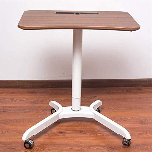 JISHIYU-Q Mobile Escritorio de la computadora portátil, Estudio Altura Ajustable Sentado y de pie Tabla balanceo Carro for pie o Sentado podio (Color : B)