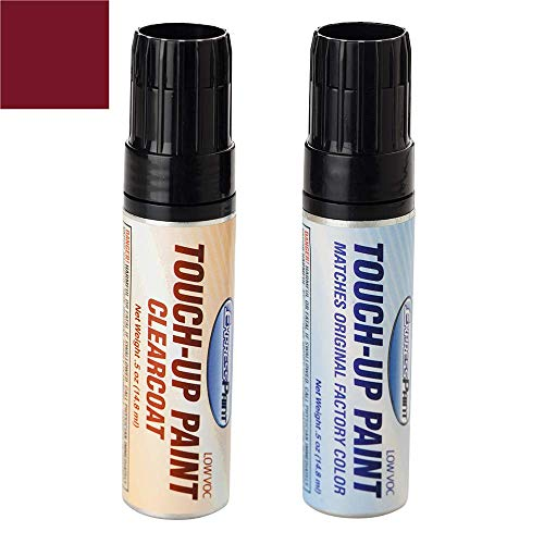 ExpressPaint Half-Ounce Jar - Automotive Touch-up Paint for Honda Accord - Basque Red Pearl II R-548P - Color + Clearcoat Package