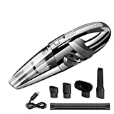 Dustbuster Handheld Vacuum YWUS Rechargeable Vacuum 7Kpa Handheld Cleaner with Filtration System, Cordless, Wet/Dry DC 12V and Low Noise(Black)